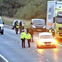 Man killed after apparently walking into path of lorry on M1 motorway