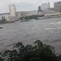 Police chase jet-ski riders on River Thames