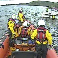 Grounded boat refloated on Lough Erne