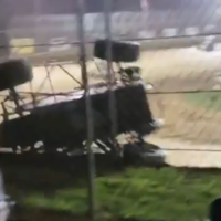Watch: Physics-defying racing driver speeds up a fence to avoid crashing