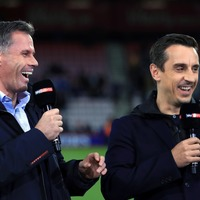 Gary Neville to wear Liverpool shirt after losing shootout to Jamie Carragher