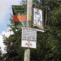 Tribute banners to UDR and UVF killer put up in Tyrone