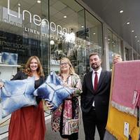 'Linenopolis' pops up in Belfast as linen entrepreneurs show their wares