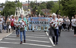 March held in west Belfast for Ballymurphy Massacre victims