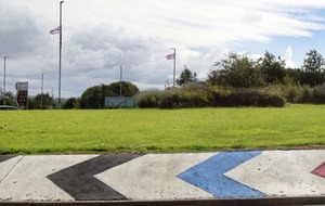 Limavady roundabout re-painted red, white and blue
