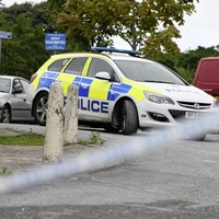 Police search playing fields in Donaghadee after a man was discovered unconscious