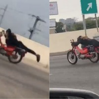 Watch: This motorcyclist's casual riding style is basically Superman flying