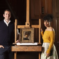 Rembrandt portrait under spotlight in Lost Masterpieces