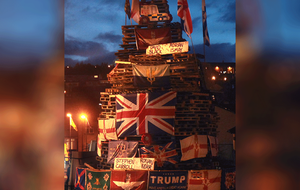 Names of murdered police and prison officers placed on Bogside bonfire