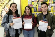 Belfast triplets get matching A-level results