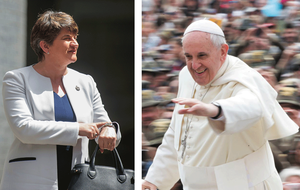 Arlene Foster 'regretfully' declines invitation to Pope's speech in Dublin Castle