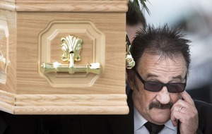 Vintage comedy greats join family and fans at Barry Chuckle's funeral