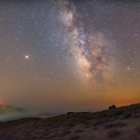 This time-lapse of the Perseid meteor shower looks almost too magical to be real