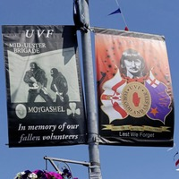 Family of UVF murder victim threaten legal action in a bid to have Moygashel 'hate' banners removed