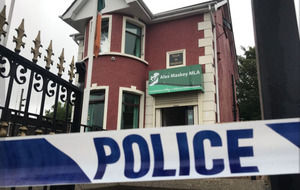 Sinn Féin Belfast offices targeted by arsonists