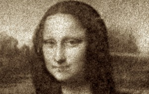 This image of Mona Lisa was created by a million E.coli bacteria