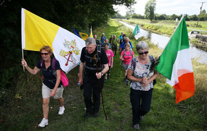 Group of pilgrims walking 137 miles to reach Papal Mass