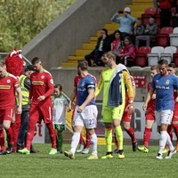 Cliftonville manager: Roy Carroll should explain why he didn't shake hands with team