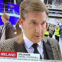 Sky blunder with 'Pope in England' and Daniel O'Donnell graphics