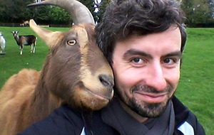 No kidding! Goats prefer to interact with humans who look happy