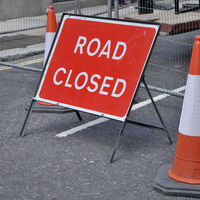 M1 closed Belfast bound between junctions 8 and 9