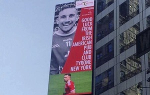 Video: Times Square shows support for Tyrone in All-Ireland final