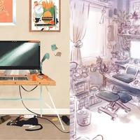 Here's why artists are sharing beautiful drawings of their desks