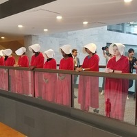 Why women are dressing up like Handmaids to protest