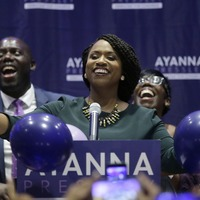 See the moment Ayanna Pressley finds out she's set to make history