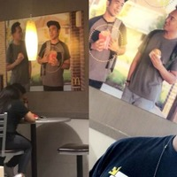 Student hangs picture of himself in McDonald's – it's still there 51 days later
