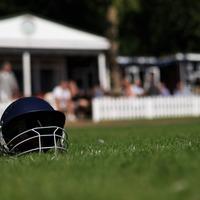 See the bizarre moment a fielder's helmet helped dismiss a Warwickshire batsman