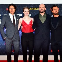 Emma Stone and Justin Theroux appear at Maniac world premiere in London