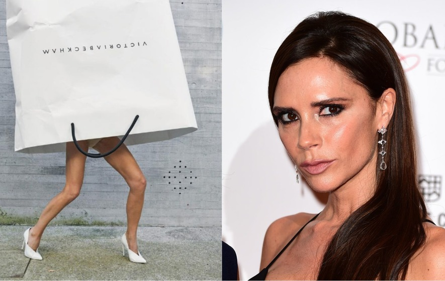 The entertaining craze comes after a fashion shoot in which the designer  wore a giant carrier bag. 962cf51dbe