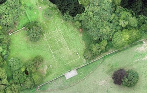 Lost stately home rediscovered by drone
