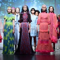 In Pictures: Frills and leopard print on show as London Fashion Week kicks off