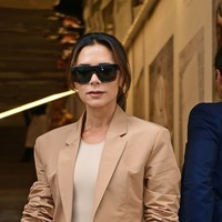 Victoria Beckham has family support at first London Fashion Week show