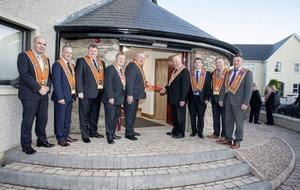 Co Donegal Orange Hall re-opens exactly four years to the day after being destroyed in an arson attack