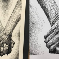 Can you find the rude word hidden in this teen's art competition entry?