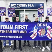 Britain First protest won't deter SDLP's Pat Catney from doing his job