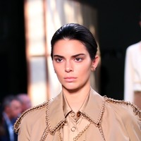 Kendall Jenner walks the runway at Burberry show