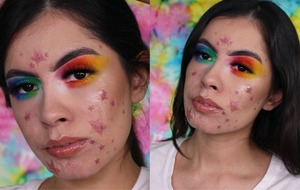 Make-up artist embraces her acne with beautiful and unique starry look
