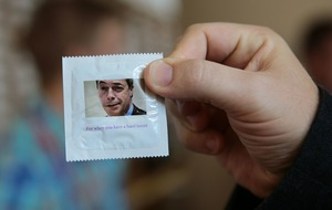 Ukip members offer up Farage condoms as the perfect way to avoid pregnancy