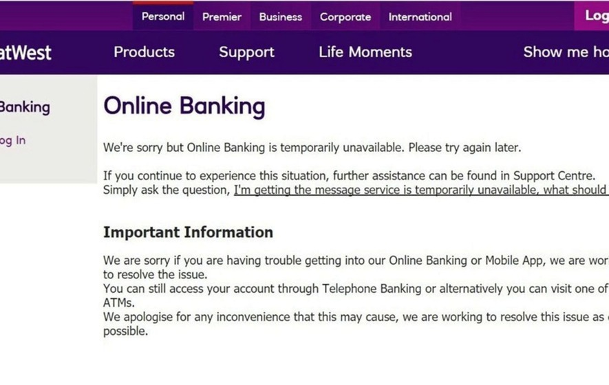 RBS apologises for locking customers out of online accounts