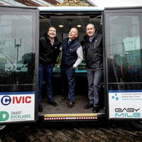Ireland's first driverless shuttle bus makes debut in Dublin