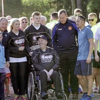 Dublin All-Ireland winning manager Jim Gavin joins hundreds in Falls Park for Run for Anto