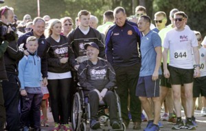 Dublin All-Ireland winning manager Jim Gavin joins hundreds in Falls Park for Run for Anto