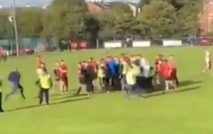 Video: Derry GAA 'aware of alleged incident' as video appears to show referee being knocked to ground