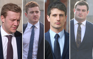Rugby rape trial: Man accused of naming woman at centre of case stays away from court