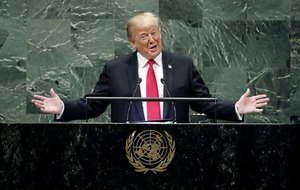 US president Donald Trump takes aim at Iran in United Nations speech