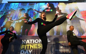 In pictures: Dame Darcey kicks up a storm for National Fitness Day